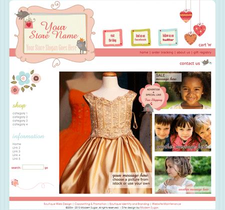 boutique website designs - Template