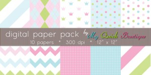 Free Digital Paper Pack from My Quick Boutique
