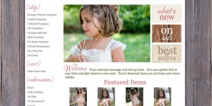 Sweetest Rose – OOAK Vintage Boutique Website Template
