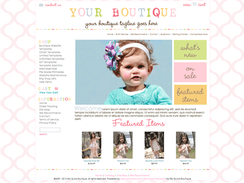 premade boutique template