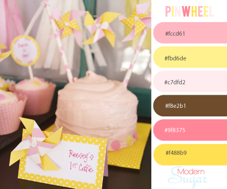 pinwheel inspired color boutique web design