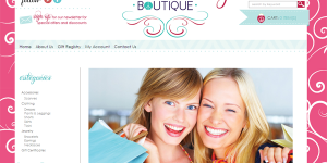 Piece Clothing Boutique Website Design