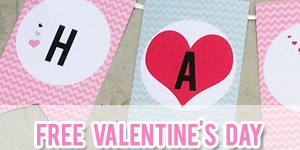 FREE Valentine's Day Printable Banner from Petite Stationery