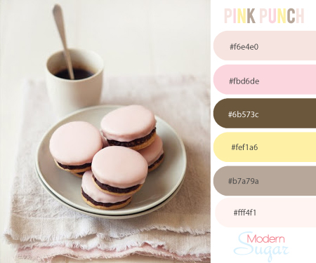 pink brown color palette