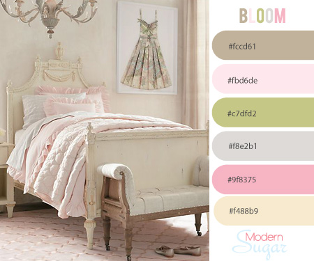 inspired color palette Bloom