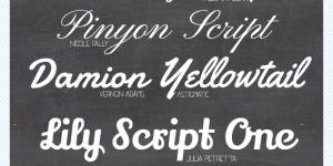 10 Favorite Google Script Fonts