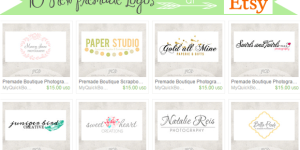 New Boutique Logos on Etsy