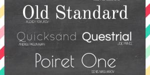 10 Favorite Google Non-Script Fonts
