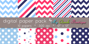 Americana Paper Pack July 4th Freebie