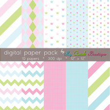 Cotton Candy Sampler Digital Paper Pack