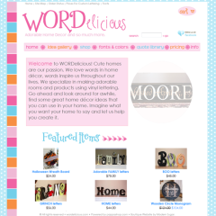 Wordelicious Boutique Website Design