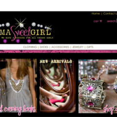 Imma Sweet Girl Boutique Web Design
