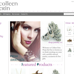 Colleen Erin Boutique Web Design
