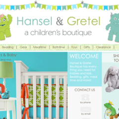 Hansel & Gretel Boutique Website Design