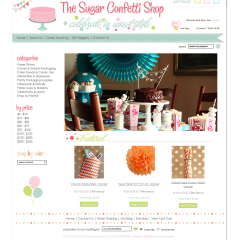 The Sugar Confetti Shop Boutique Web Design