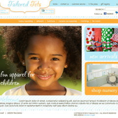 Tailored Tots Boutique Web Design