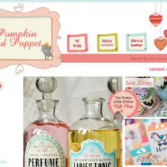 Pumpkin and Poppet Boutique Website Template