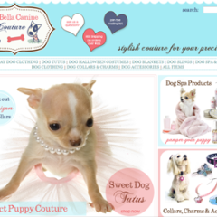 Bella Canine Couture Custom Web Design