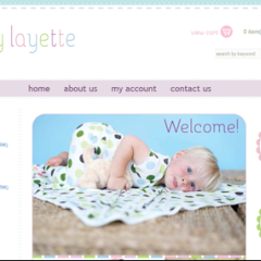 Lullaby Layette 3dCart Boutique Web Design